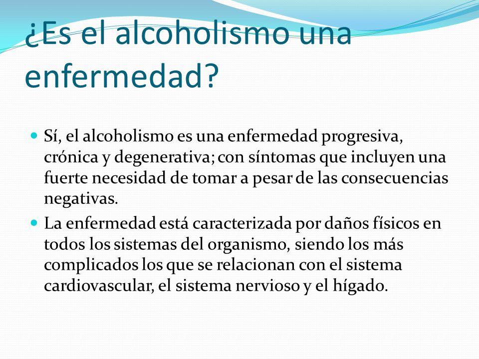 ¿Es el alcoholismo una enfermedad