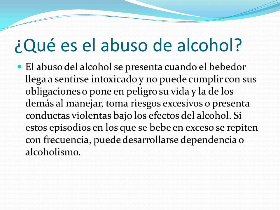 ¿Qué es el abuso de alcohol