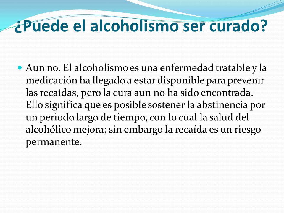 ¿Puede el alcoholismo ser curado