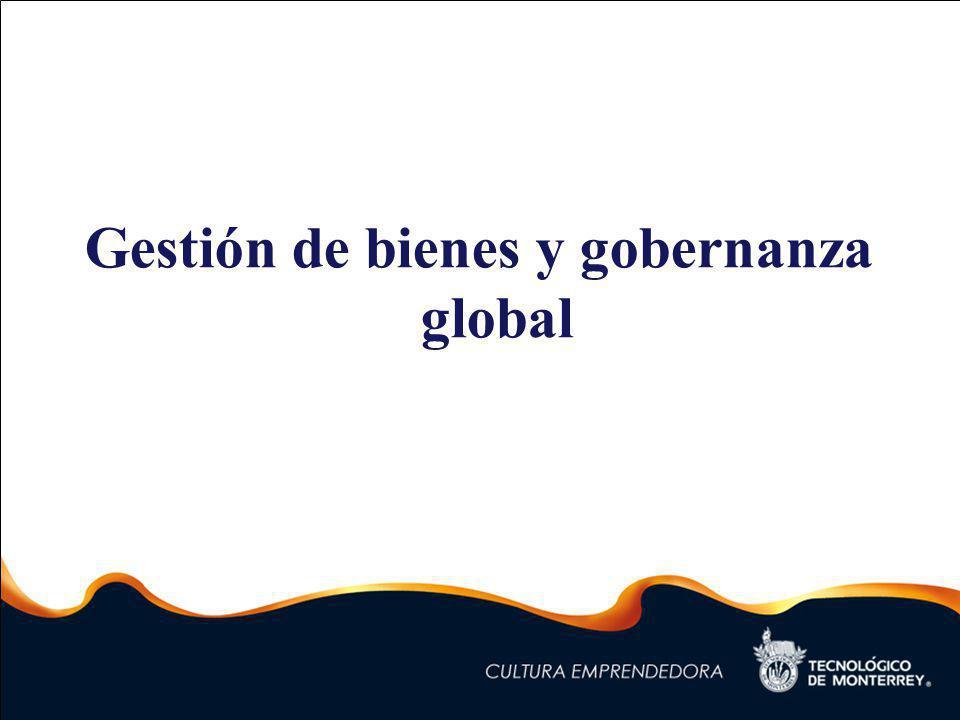Gestión de bienes y gobernanza global