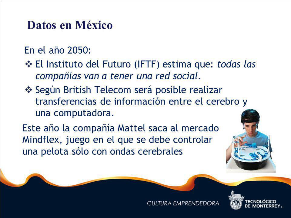 Datos en México En el año 2050: