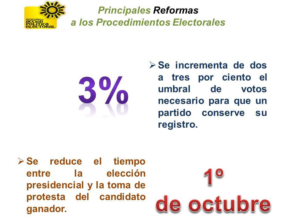a los Procedimientos Electorales