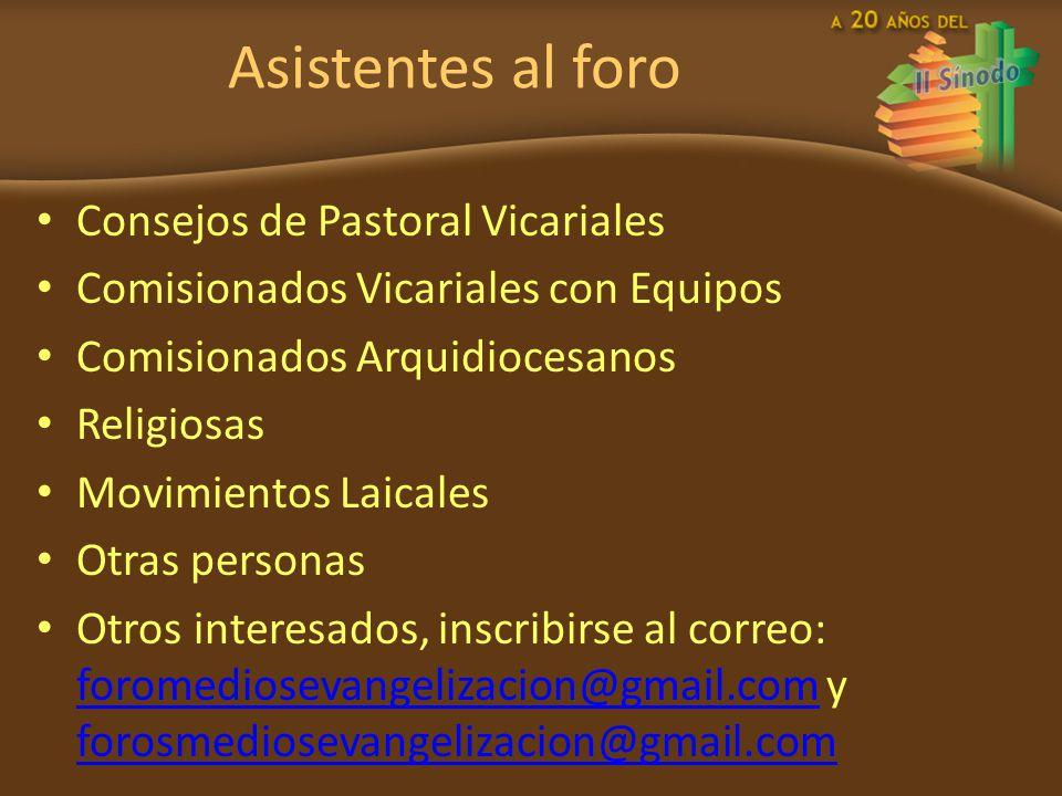 Asistentes al foro Consejos de Pastoral Vicariales