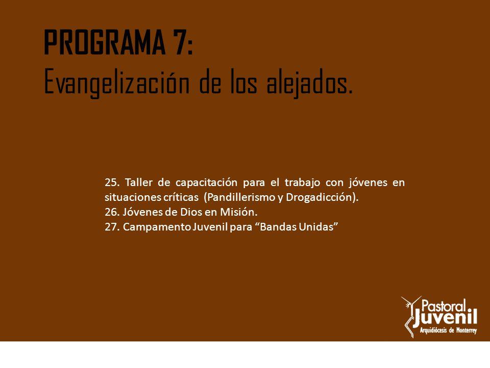 Evangelización de los alejados.