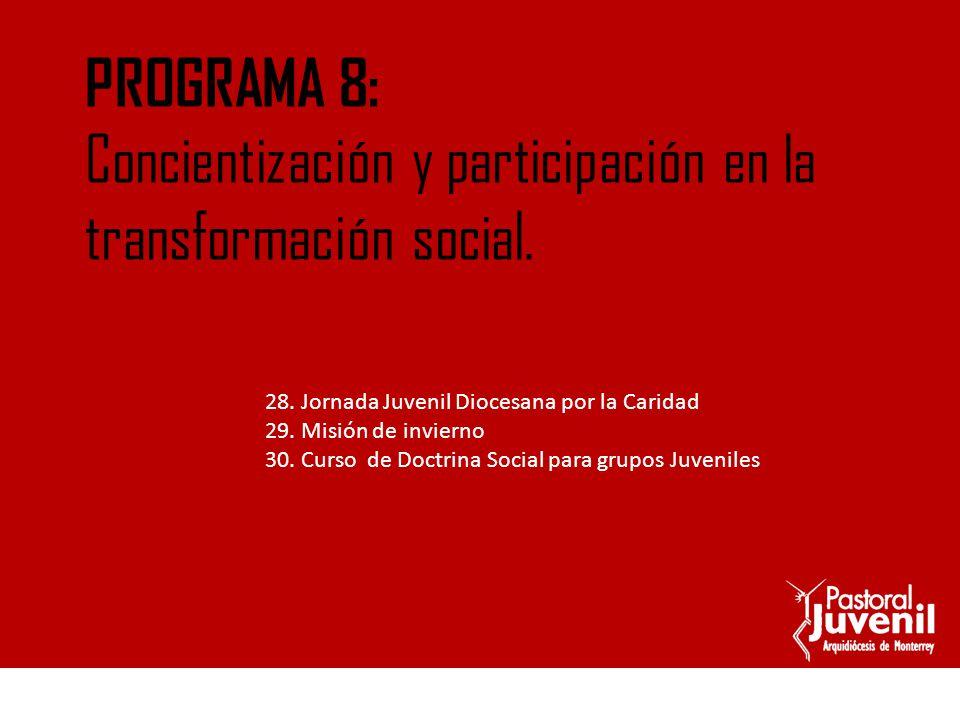 Concientización y participación en la transformación social.