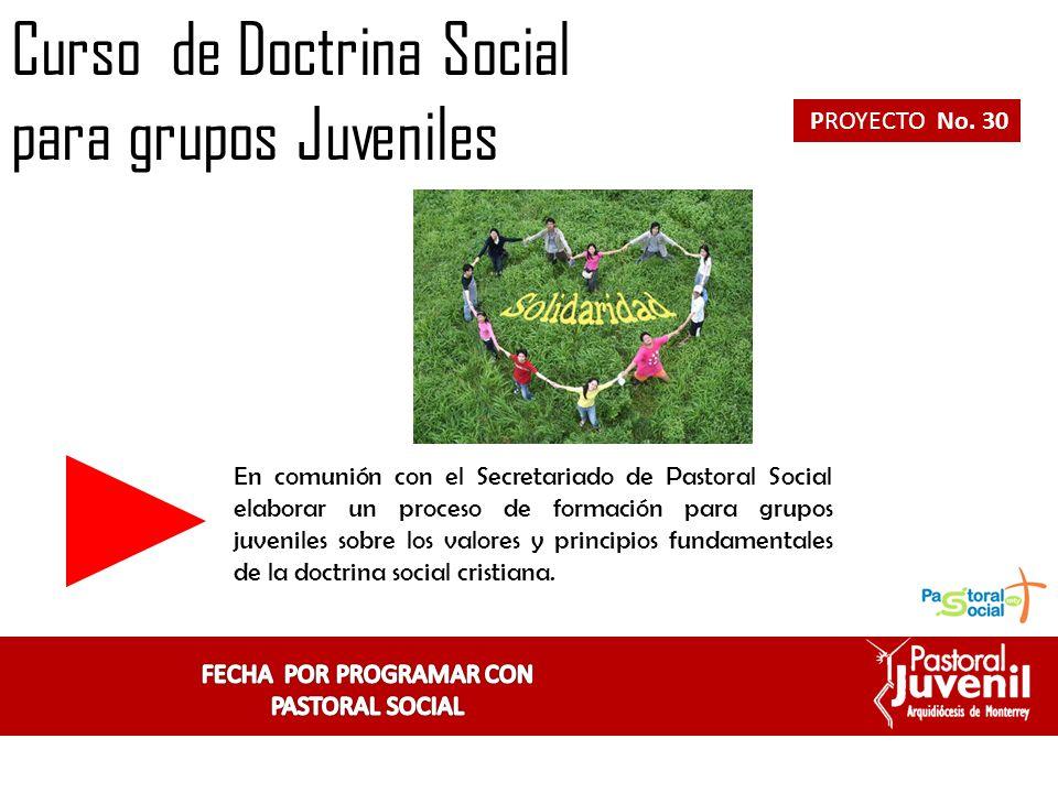 FECHA POR PROGRAMAR CON PASTORAL SOCIAL