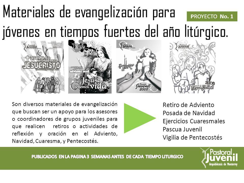 PUBLICADOS EN LA PAGINA 3 SEMANAS ANTES DE CADA TIEMPO LITURGICO