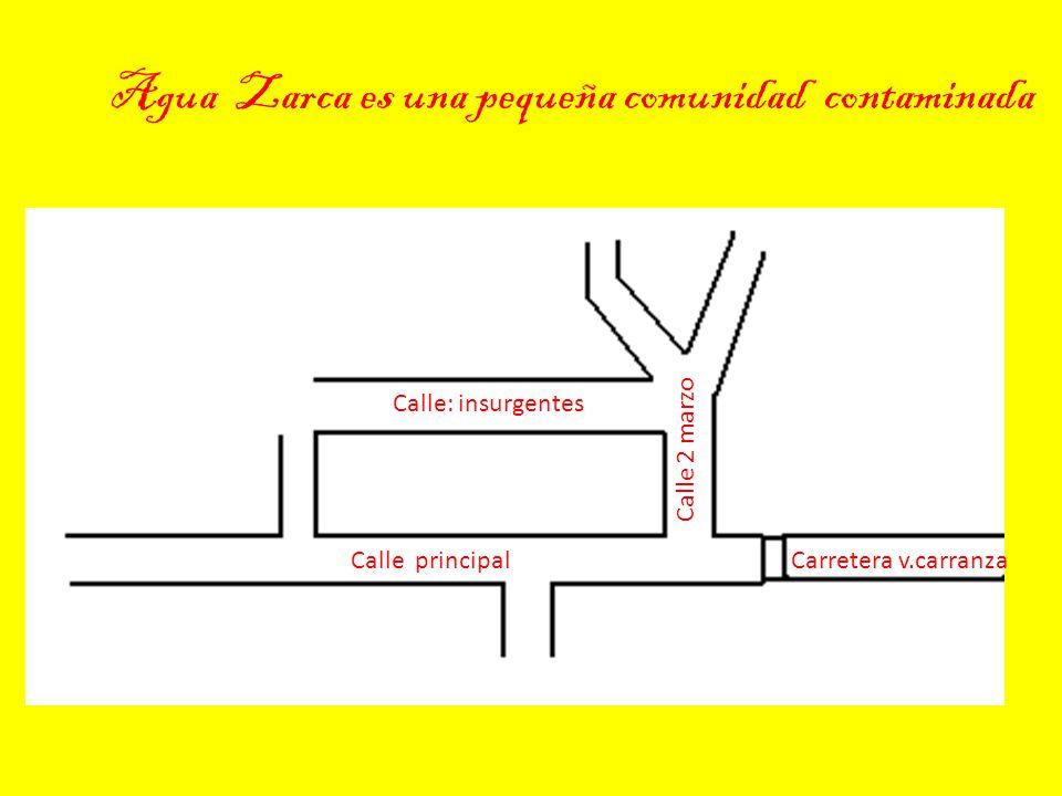 Agua Zarca es una pequeña comunidad contaminada