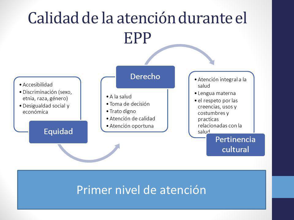 Calidad de la atención durante el EPP