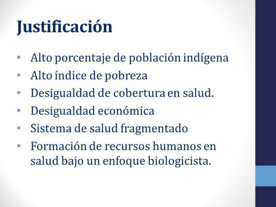 Justificación Alto porcentaje de población indígena