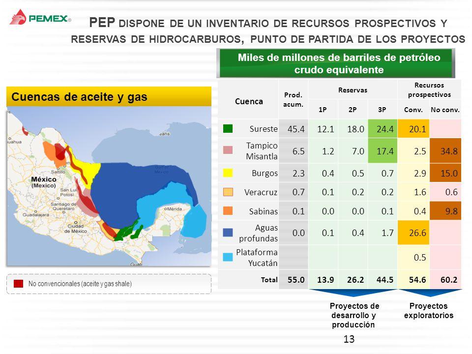 PEP dispone de un inventario de recursos prospectivos y reservas de hidrocarburos, punto de partida de los proyectos