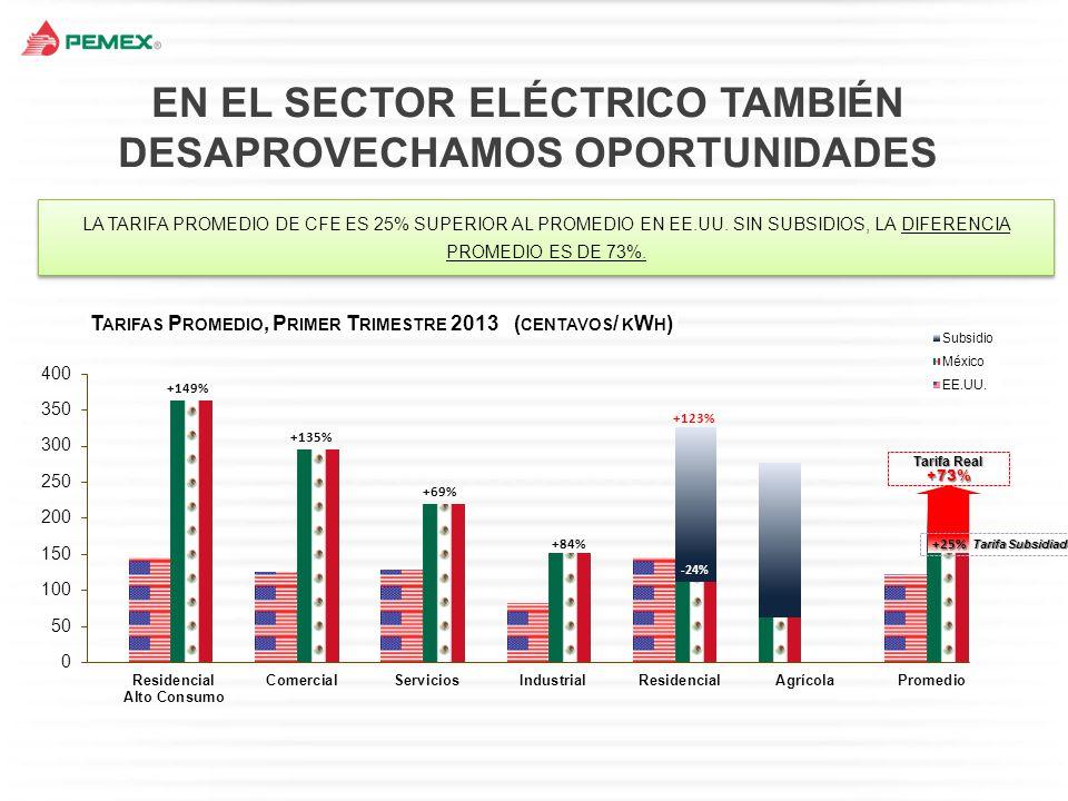 EN EL SECTOR ELÉCTRICO TAMBIÉN DESAPROVECHAMOS OPORTUNIDADES