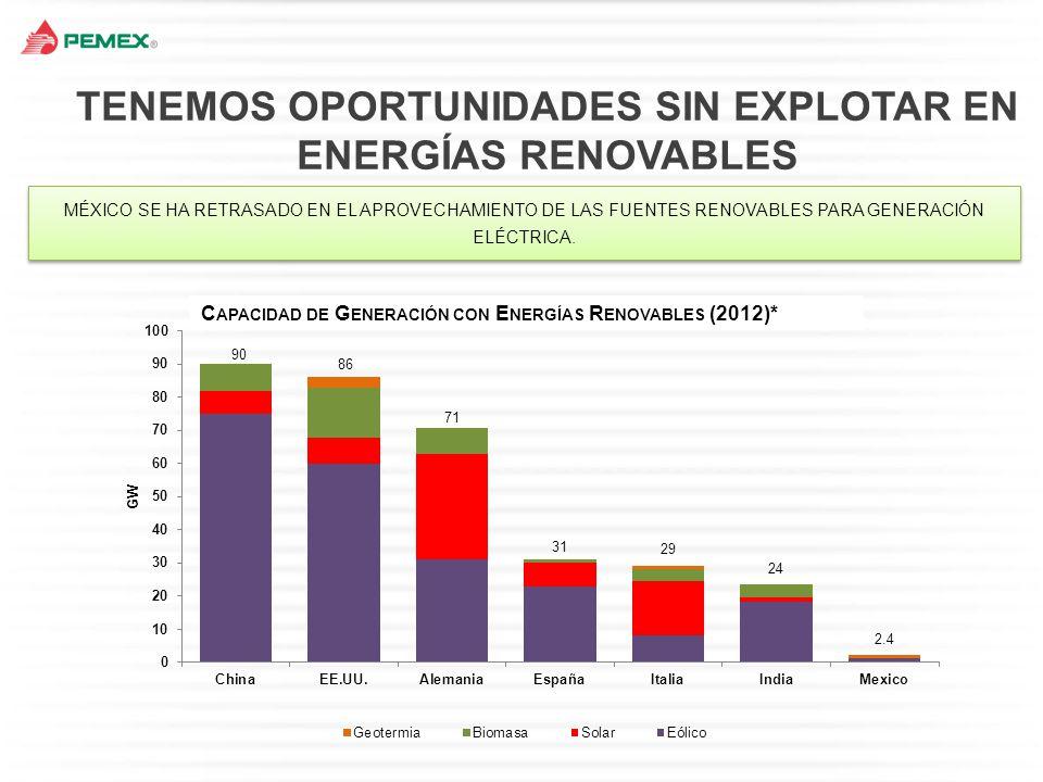 TENEMOS OPORTUNIDADES SIN EXPLOTAR EN ENERGÍAS RENOVABLES