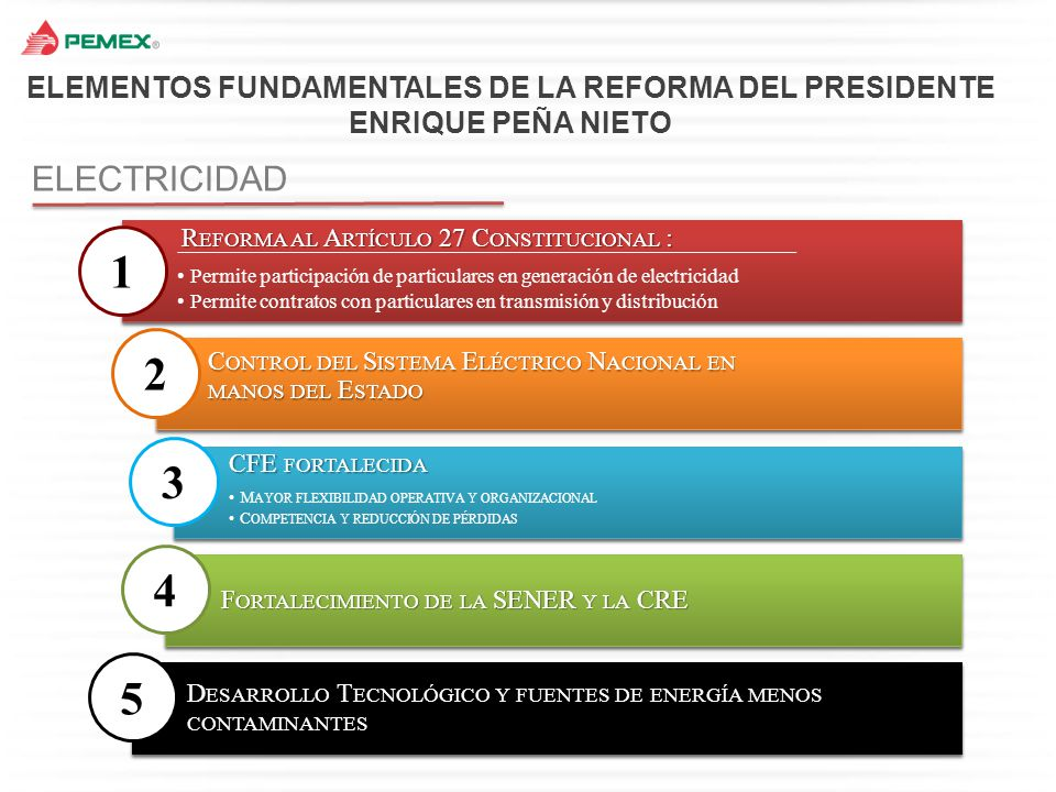 ELEMENTOS FUNDAMENTALES DE LA REFORMA DEL PRESIDENTE ENRIQUE PEÑA NIETO