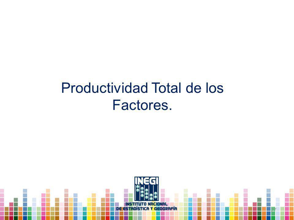 Productividad Total de los Factores.