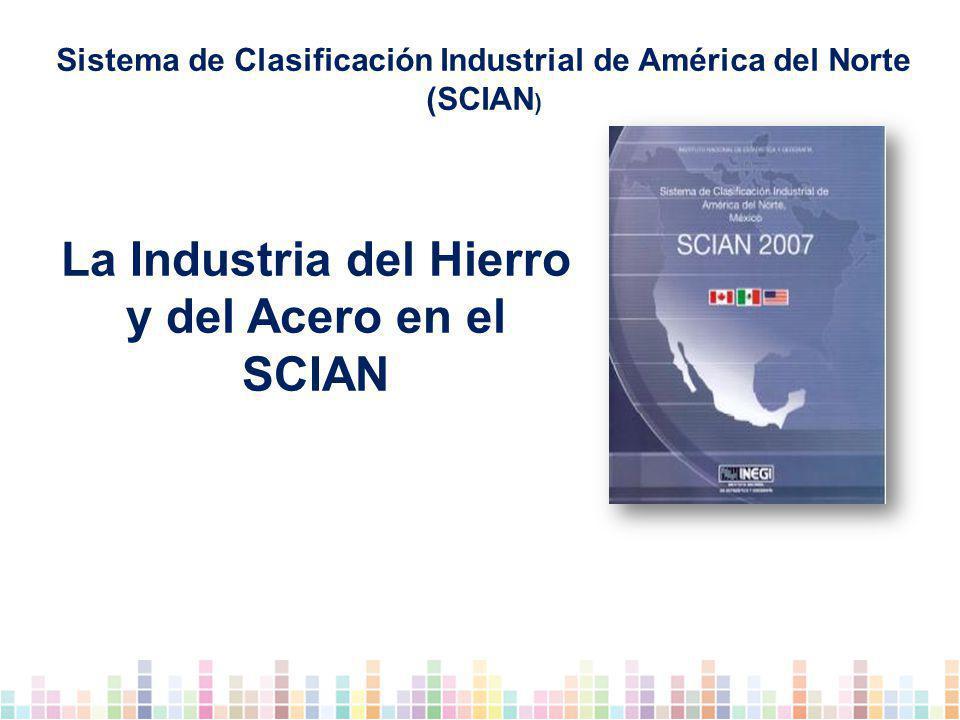 La Industria del Hierro y del Acero en el SCIAN