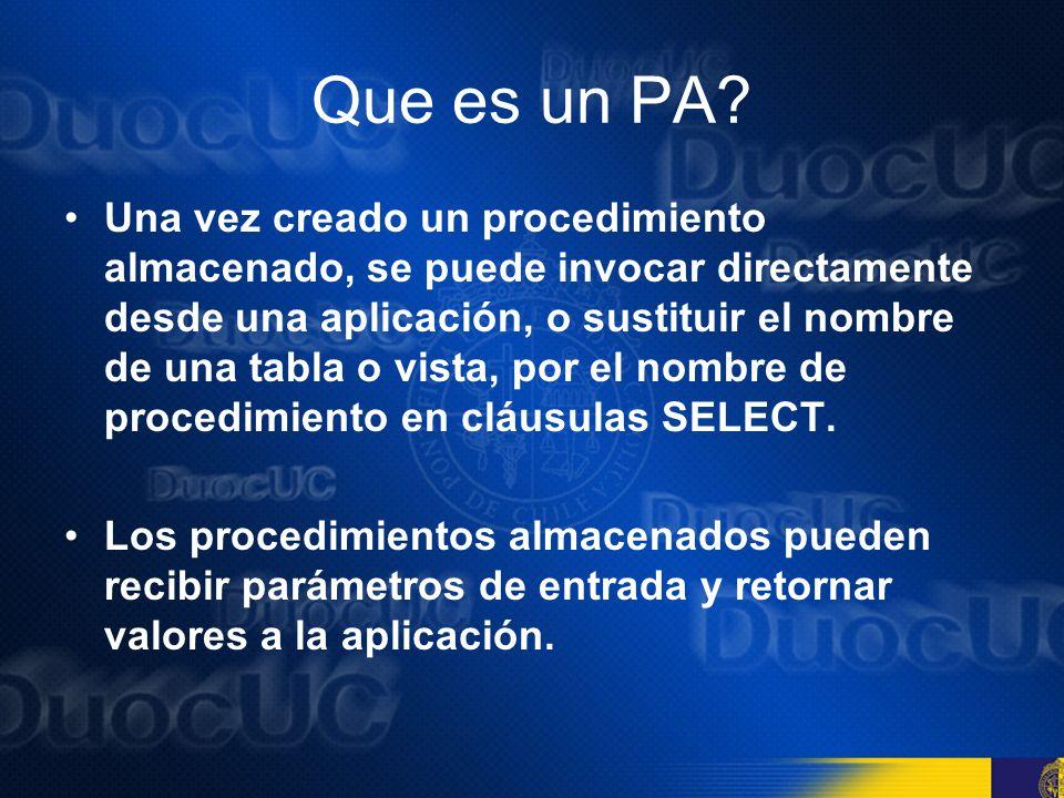 Que es un PA