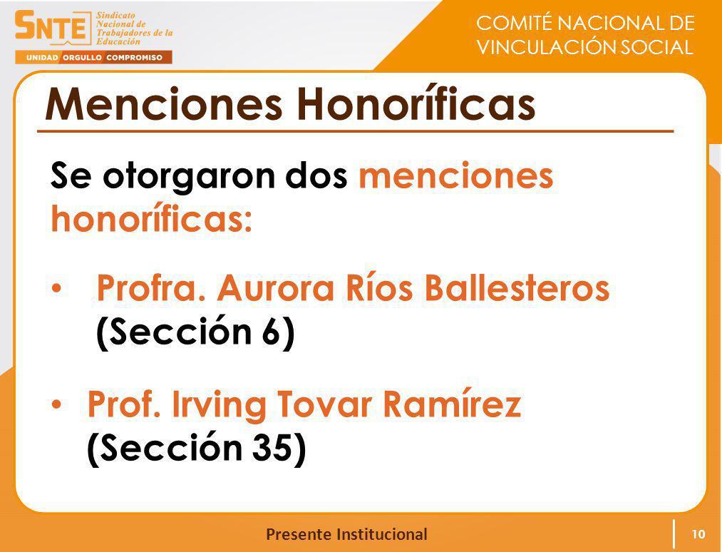 Menciones Honoríficas