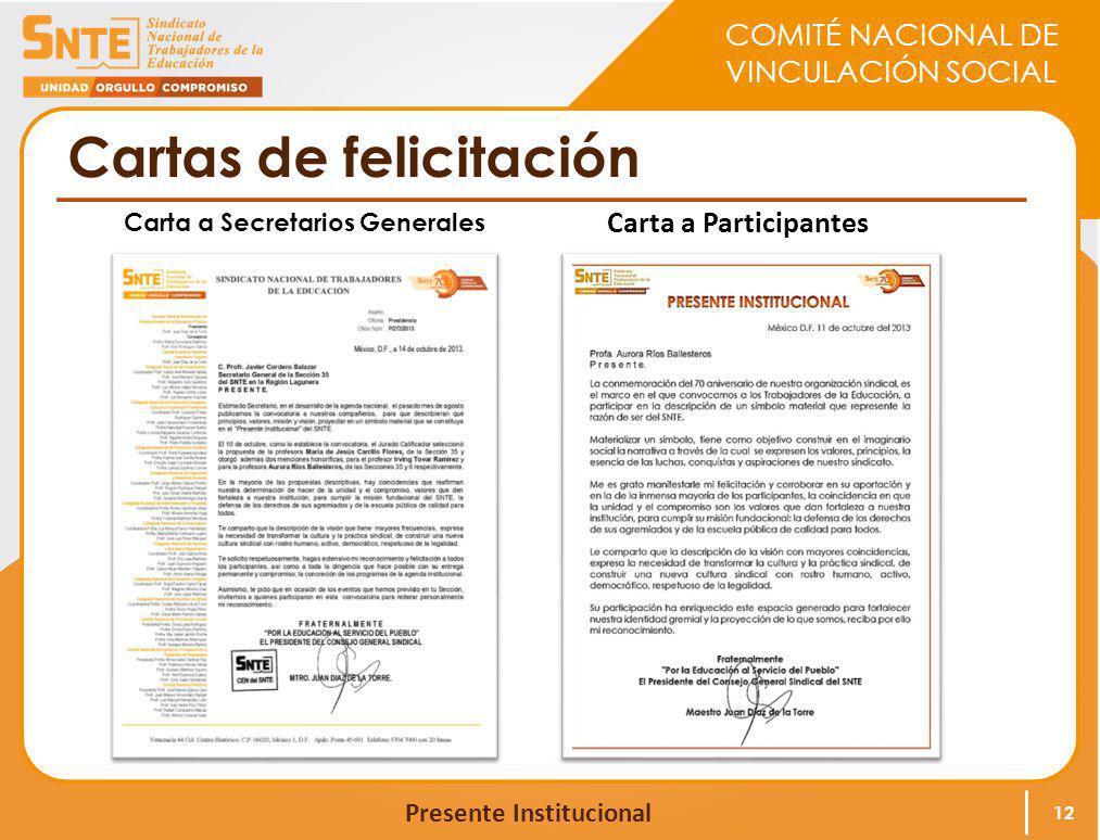 Cartas de felicitación