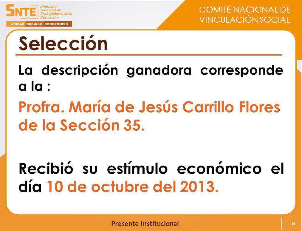 Selección Profra. María de Jesús Carrillo Flores de la Sección 35.