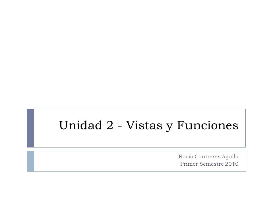 Unidad 2 - Vistas y Funciones
