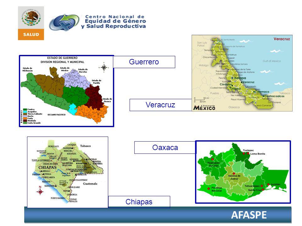 Guerrero Veracruz Oaxaca Chiapas