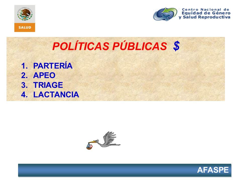 POLÍTICAS PÚBLICAS $ PARTERÍA APEO TRIAGE LACTANCIA 33