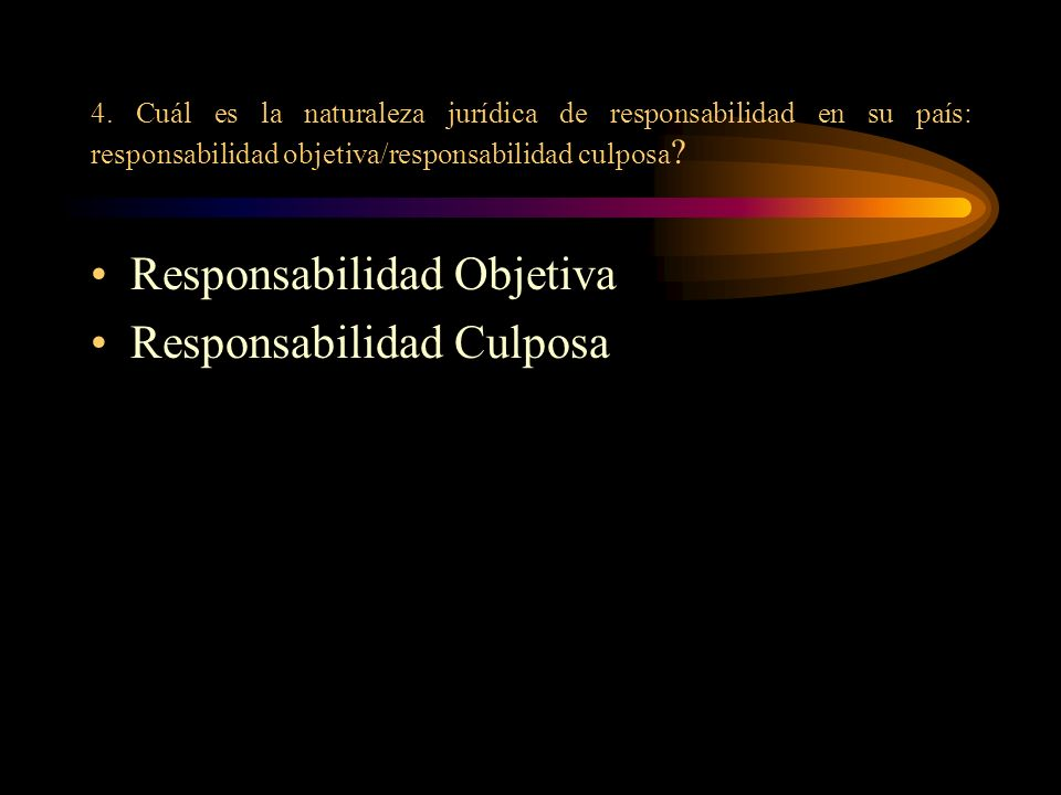 Responsabilidad Objetiva Responsabilidad Culposa
