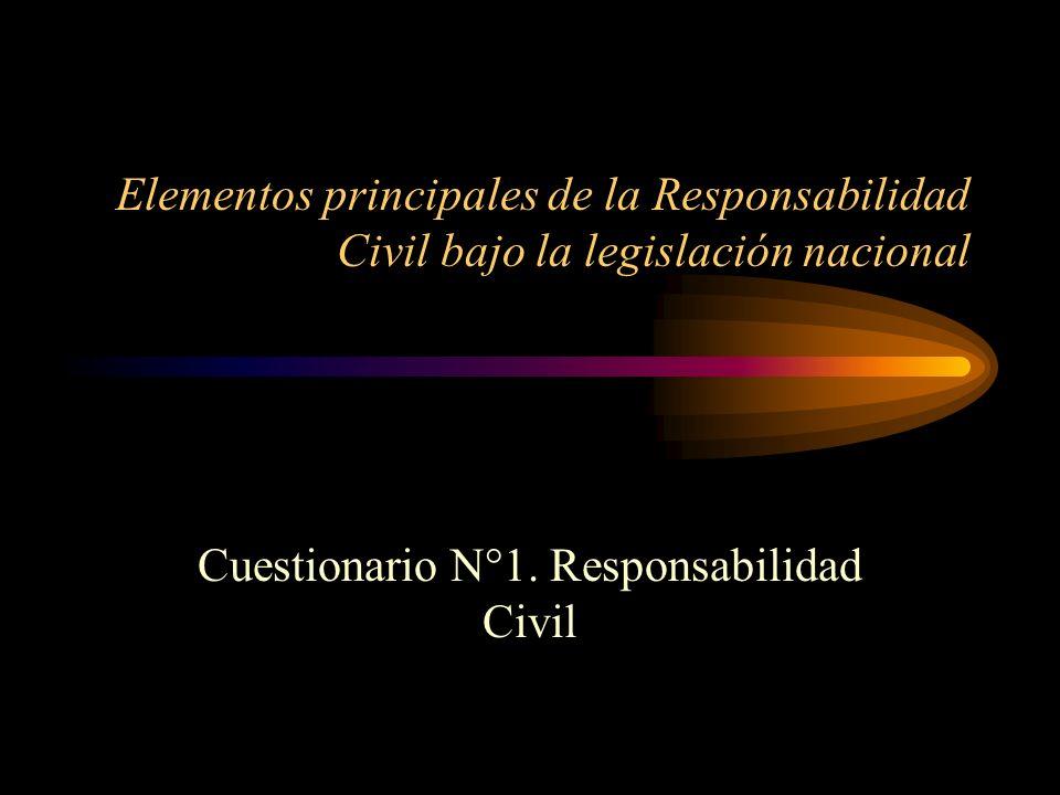 Cuestionario N°1. Responsabilidad Civil