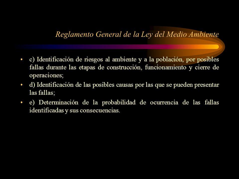 Reglamento General de la Ley del Medio Ambiente