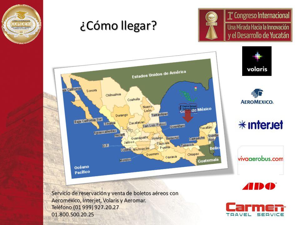 ¿Cómo llegar Servicio de reservación y venta de boletos aéreos con Aeromexico, Interjet, Volaris y Aeromar.