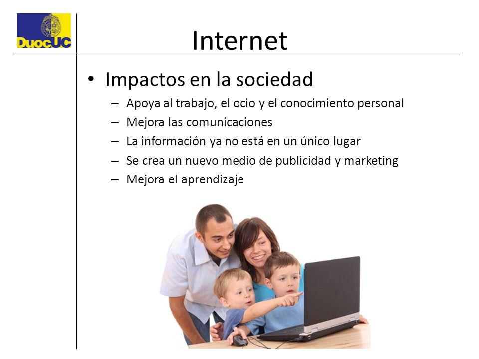 Internet Impactos en la sociedad