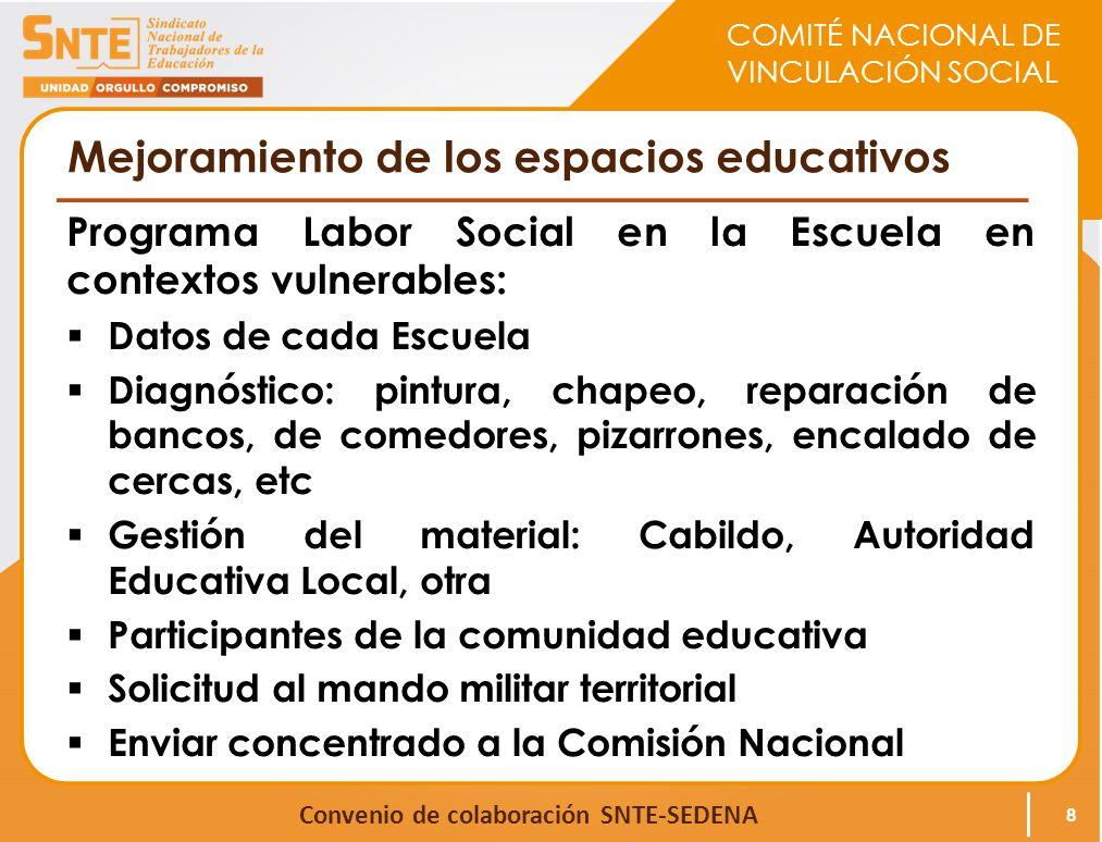 Mejoramiento de los espacios educativos
