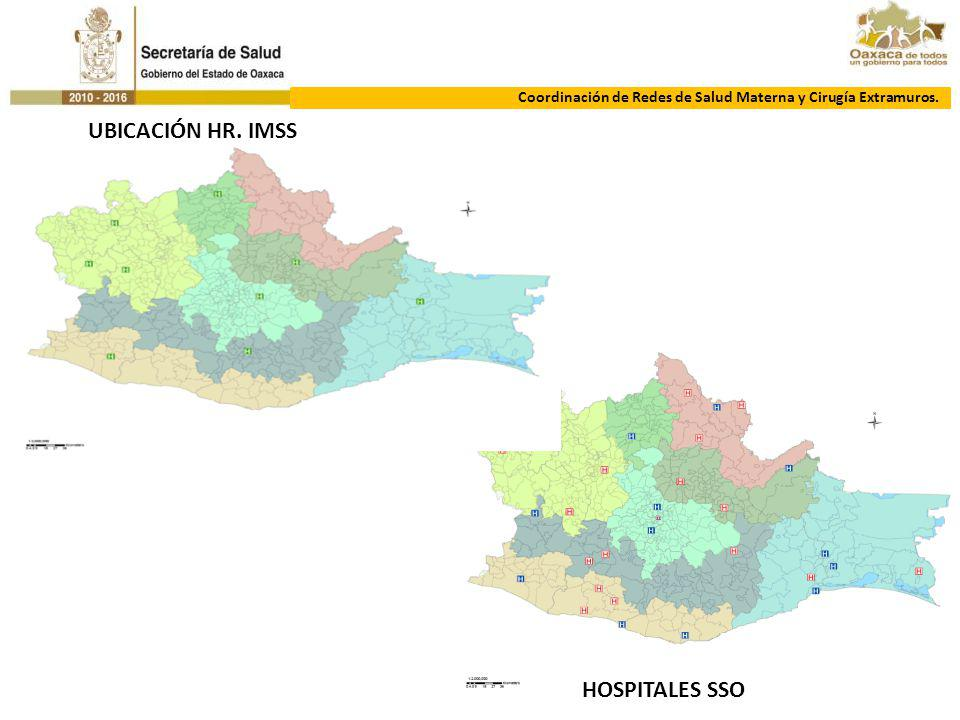 UBICACIÓN HR. IMSS HOSPITALES SSO