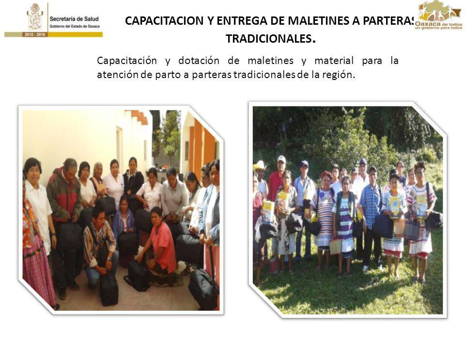 CAPACITACION Y ENTREGA DE MALETINES A PARTERAS TRADICIONALES.