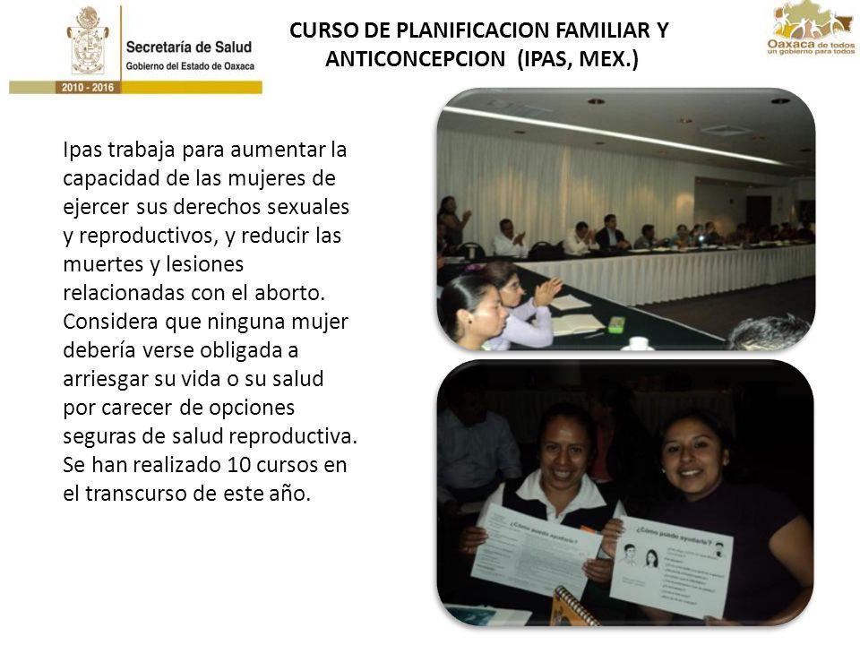 CURSO DE PLANIFICACION FAMILIAR Y ANTICONCEPCION (IPAS, MEX.)