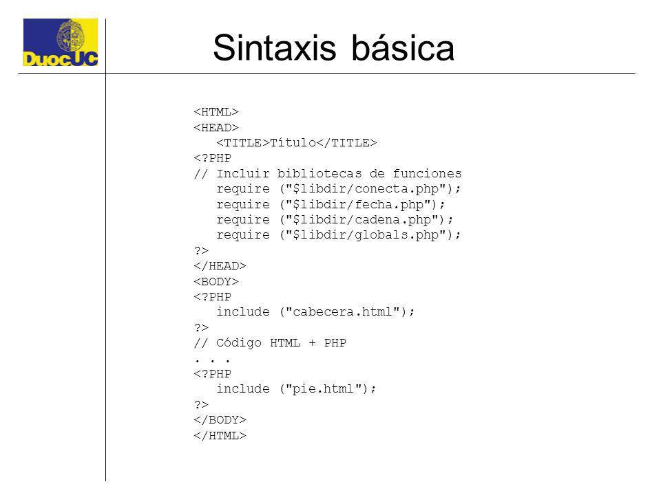Sintaxis básica <HTML> <HEAD>