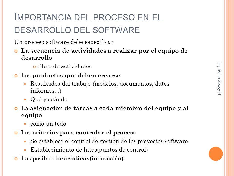 Importancia del proceso en el desarrollo del software