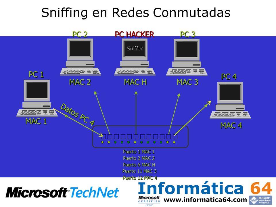 Sniffing en Redes Conmutadas