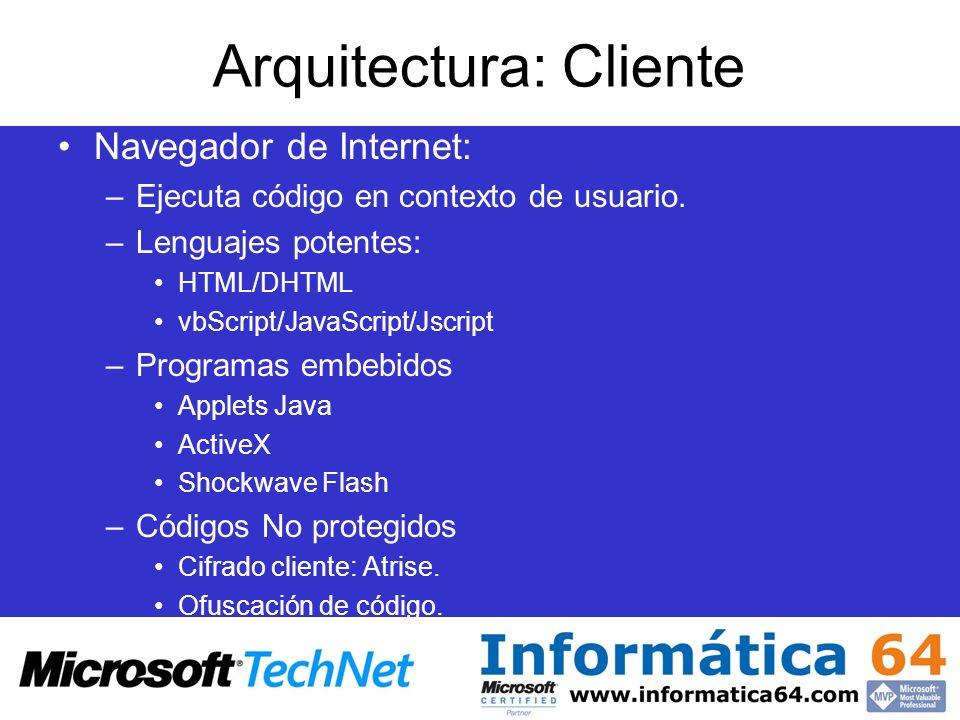Arquitectura: Cliente