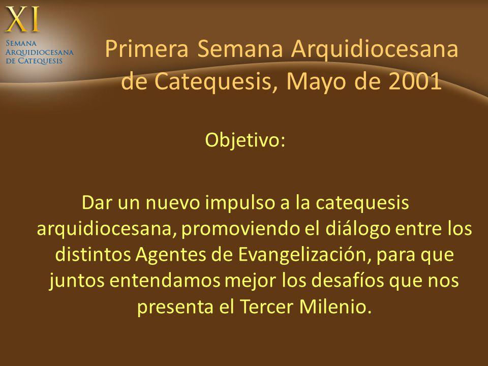 Primera Semana Arquidiocesana de Catequesis, Mayo de 2001