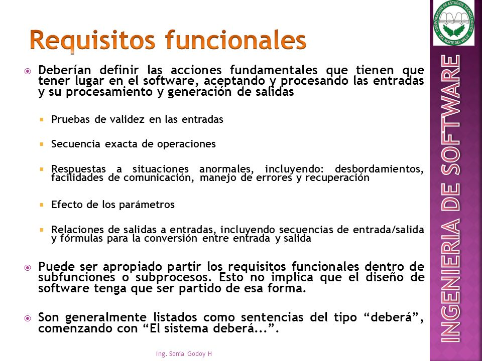 Requisitos funcionales