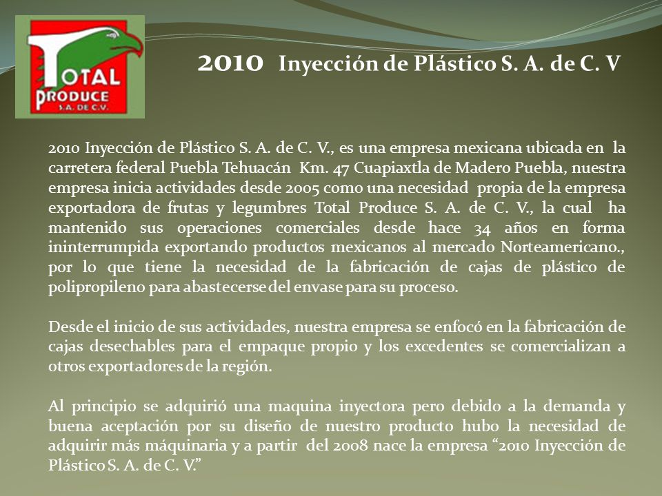2010 Inyección de Plástico S. A. de C. V
