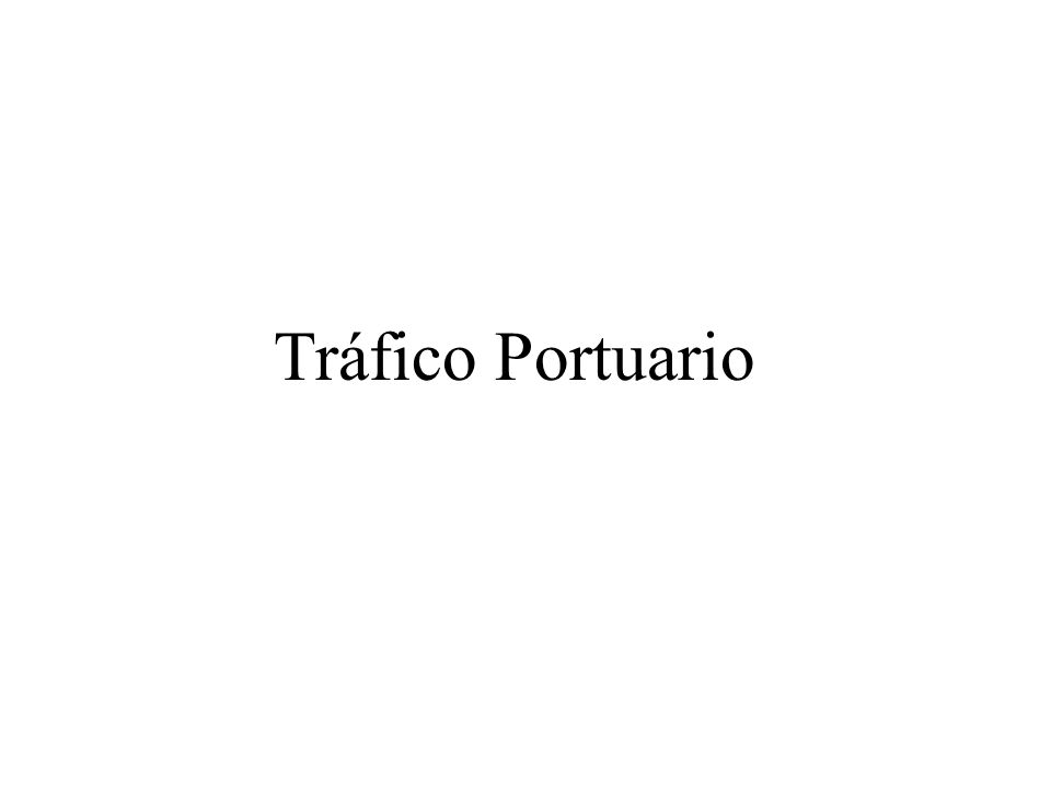 Tráfico Portuario