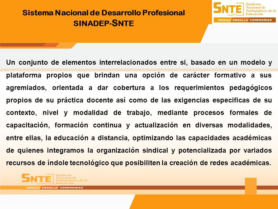 Sistema Nacional de Desarrollo Profesional SINADEP-SNTE