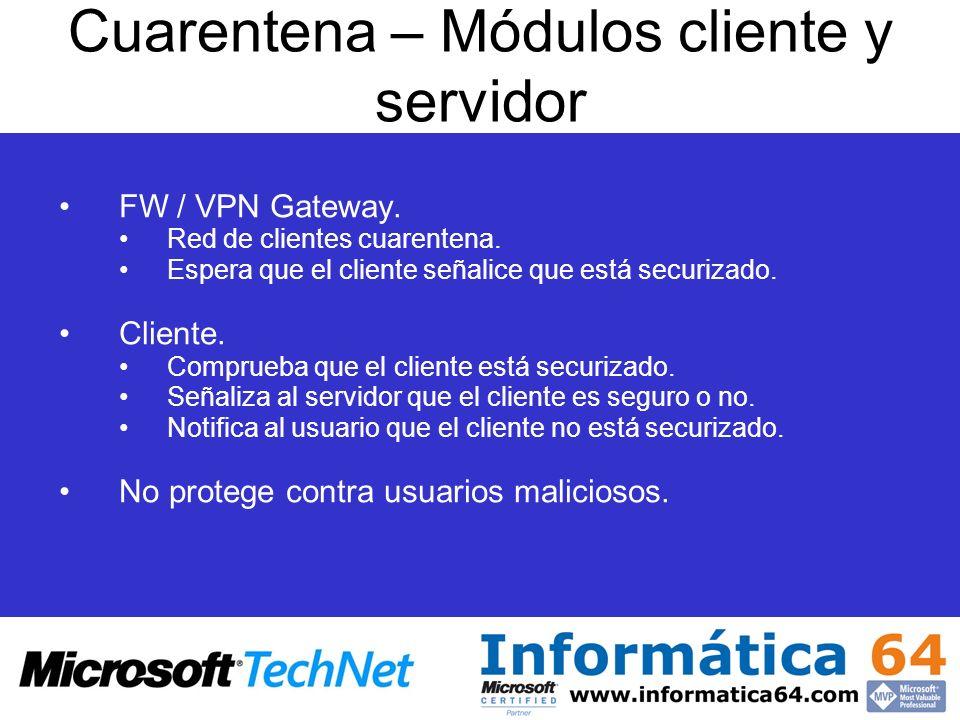 Cuarentena – Módulos cliente y servidor