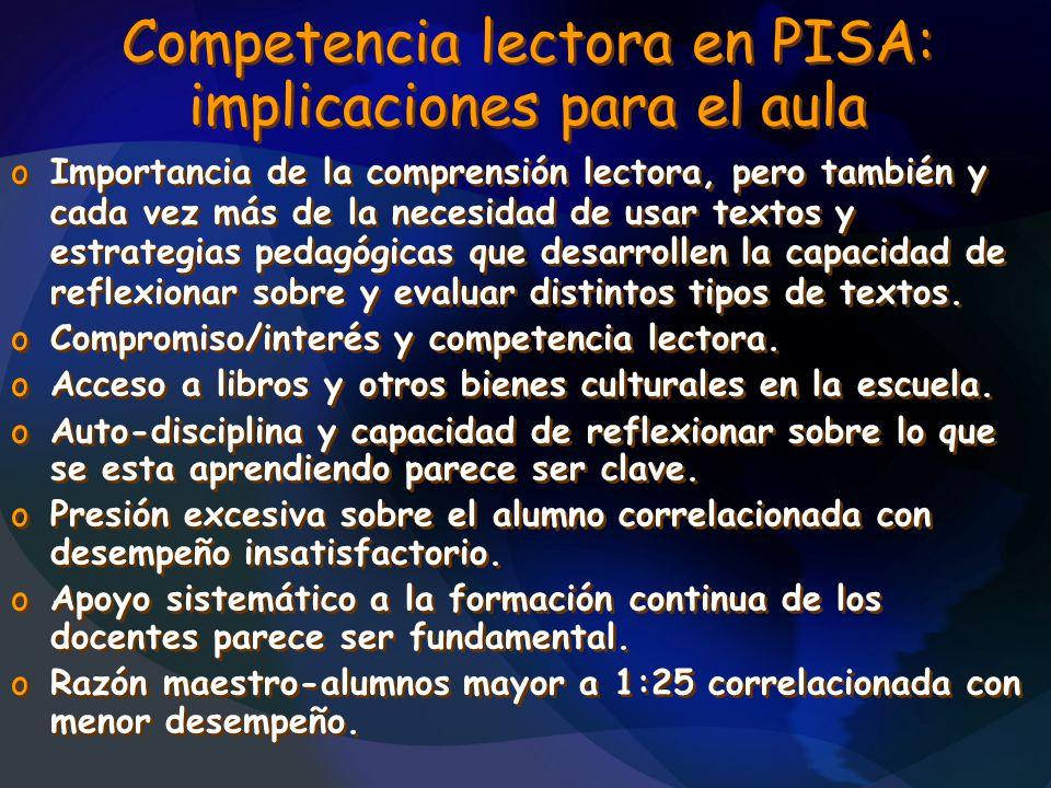 Competencia lectora en PISA: implicaciones para el aula