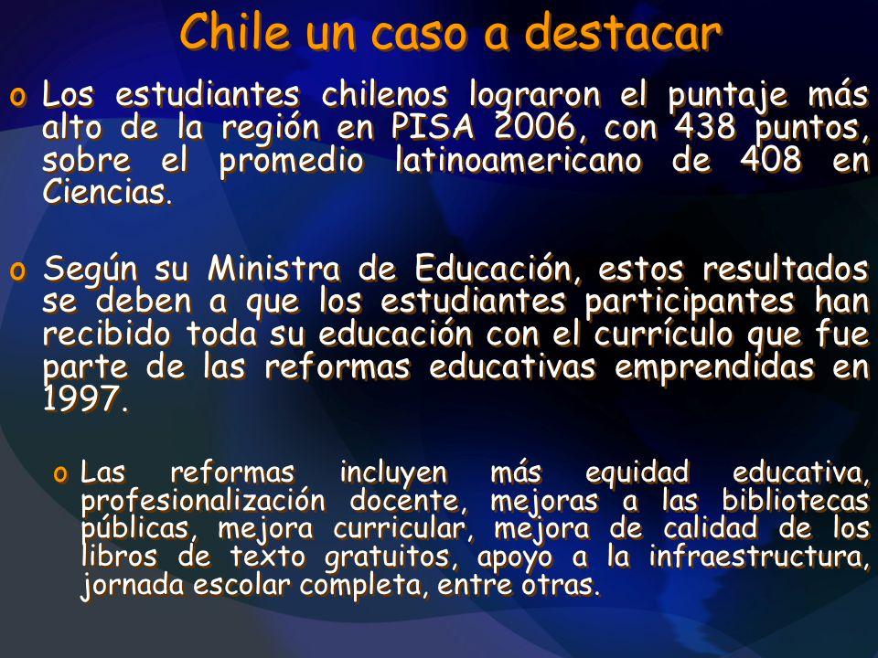 Chile un caso a destacar