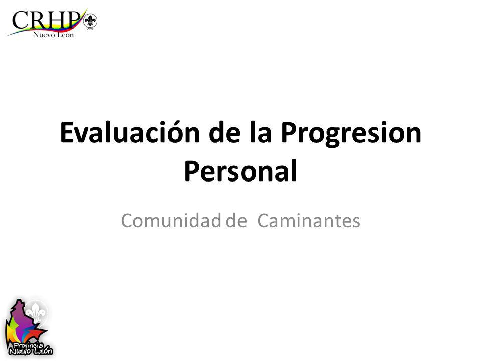 Evaluación de la Progresion Personal