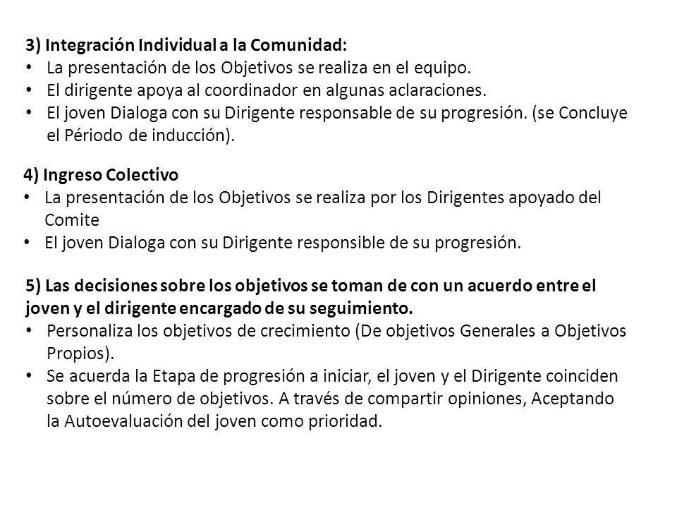 3) Integración Individual a la Comunidad: